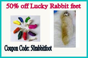50% off all rabbit feet