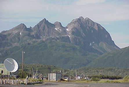 Across the bay from the village of Akhiok, Alaska