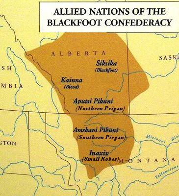 Blackfoot Indians Flag