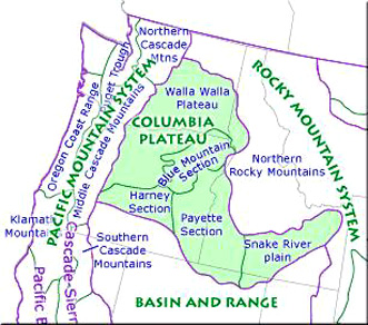 map of Columbia Plateau Region