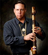 Jan Michael Looking Wolf Reibach, native american flute player