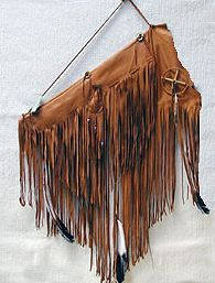 rust brown fringed quiver