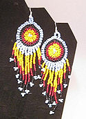 hand beaded dangle earrings with sequin