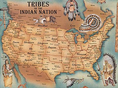 Map of United States Indian Tribes