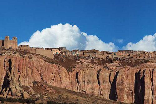 Acoma Pueblo wide angle view