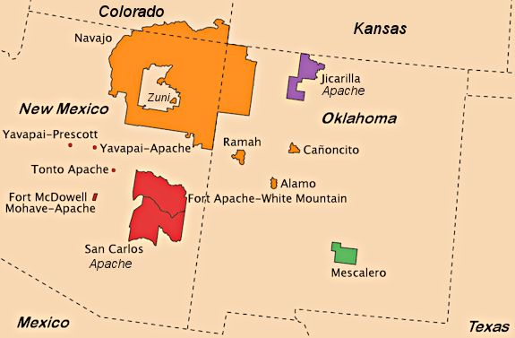 Apache Tribes Map