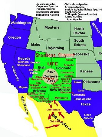 The Apache Nation of tribes