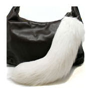 silver fox tail purse ornament.