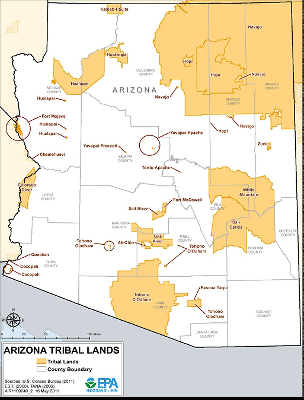 Arizona Indian Reservations  Reservations By State  AAA