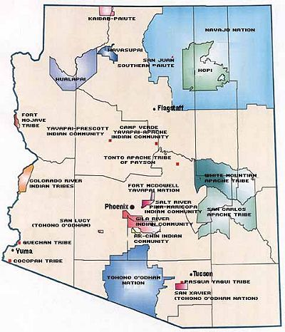 arizona reservations map