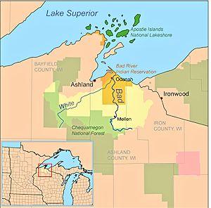 Bad River Reservation Map