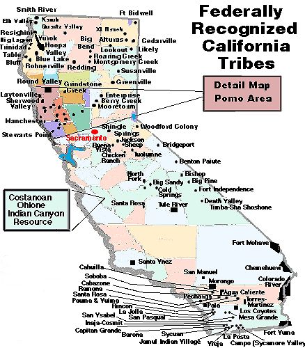 map of California Indian Tribes