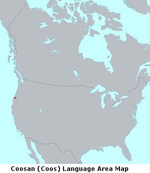 Coosan (Coos) Language Area Map