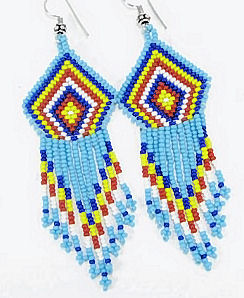 hand beaded seed bead necklace and earrings set