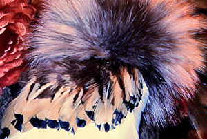 simulated eagle feather dance fan