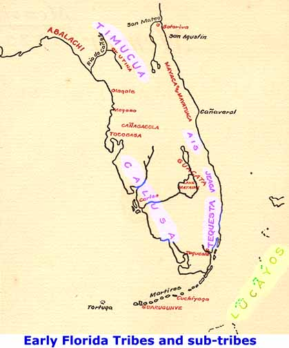 florida extinct tribes map