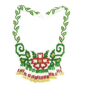 hand beaded choker necklace