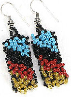 hand beaded necklace and earrings set