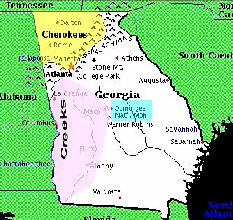 Georgia tribes map