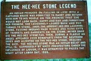 Hee Hee Stone Memorial Marker