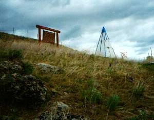 Hee Hee Stone Memorial near Chewsaw, Washington