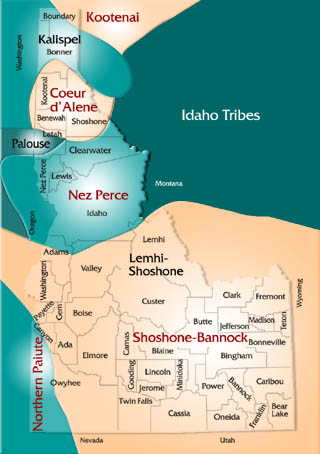 Idaho tribes map