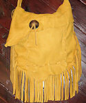 2 Compartment Buckskin Purse