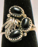 Black Onyx Navajo Sterling Silver Ring #21