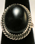 Navajo Black Onyx Sterling Silver Ring #23