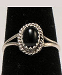 Black Onyx Sterling Silver Ring #28