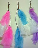 3 Feather Hair Clips!