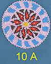 "3"" Seed Bead Rosette #10A"