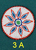 "3"" Seed Bead Rosette #3A"