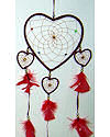 Red Four Heart Dreamcatcher