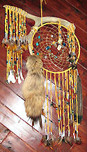 4 Point Deer Antler Long Fringed Unique Dreamcatcher