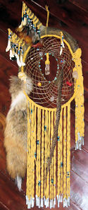 4 Point Deer Antler Spiral Fringed Custom Dreamcatcher