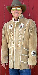 Kango King Fringed Suede Jacket<font color=red><b>Only 1 left!</b></font>