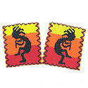 Beaded Kokopelli sead bead patch SET