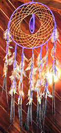 Agate Horse Hair Dream Catcher with Crystal