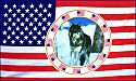 US Flag with Wolf in Circle of Flags