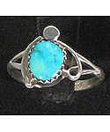 Sterling Silver Turquoise Navajo ring.