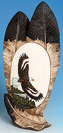 "Flying Eagle on Two Eagle Feathers Statue - <font color=""red"">ONLY 2 LEFT!</FONT>"
