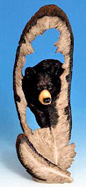 Bear in Feather Statue - <font color=&quot;red&quot;>ONLY 10 LEFT!</FONT>