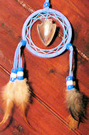 Blue Mini Dreamcatcher Mandella with Arrowhead Mirror Ornament