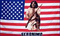 US Flag with Geronimo