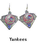 Yankees Dangle Earrings