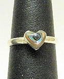 Abalone Heart Ring