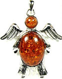 Amber Angel Pendant