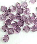 Amethyst 8mm Crystal Bicone Glass Beads
