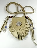 Antler Button Fringed Medicine Bag